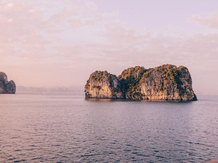 Halong Bay at sunset- Staycation ideas for couples