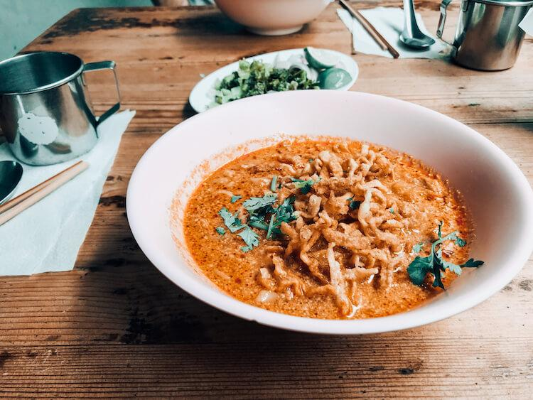 Khao soi in Chiang Mai- Romantic Staycation ideas