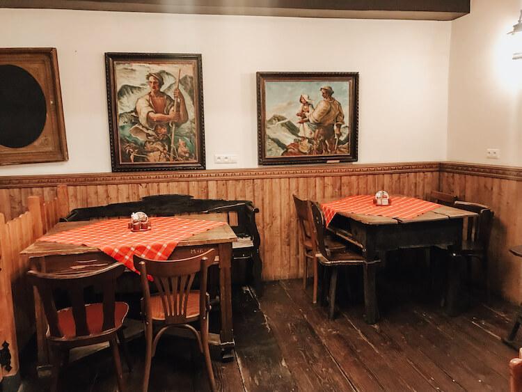 Main dining area at Slovak Pub in Bratislava