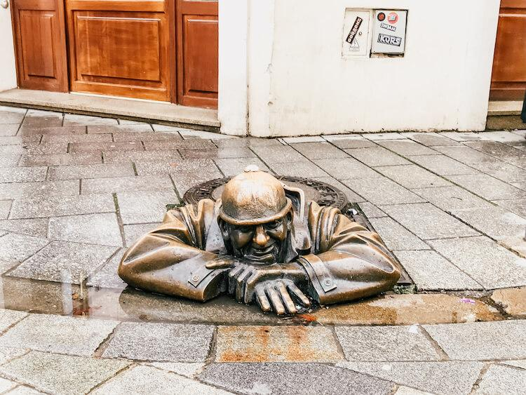 Man at Work Statue in Bratislava in One Day