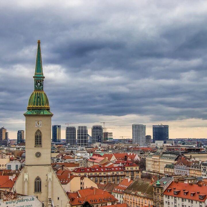 Skyline of Bratislava in One Day
