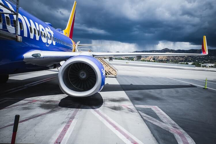 Southwest Airlines at the airport