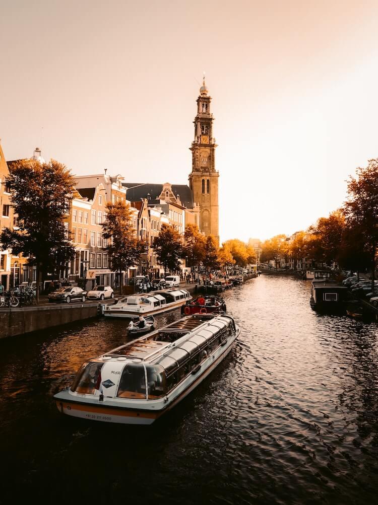 Amsterdam at twilight