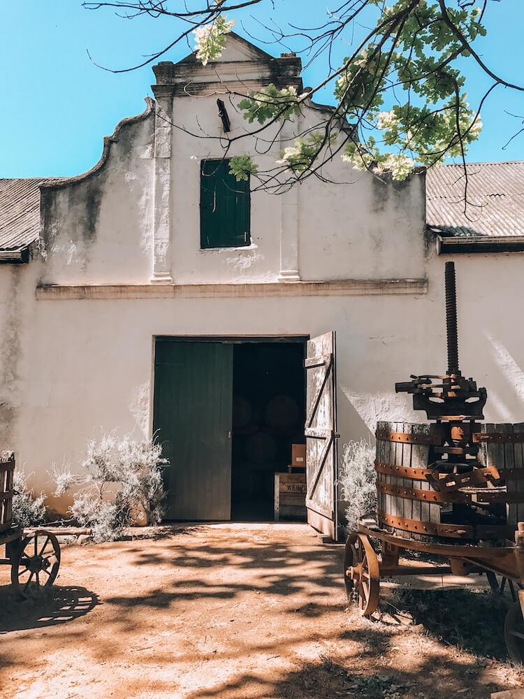 Annandale Winery outside of Cape Town