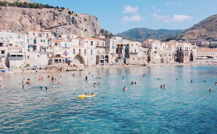 Beautiful beaches off the coast of Sicily