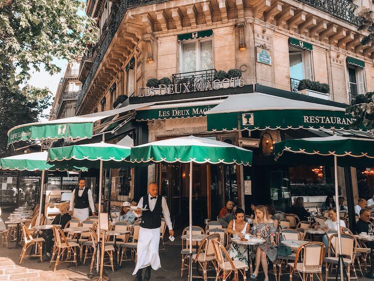 Les Deux Magots in Paris, France - Romantic Cities in Europe