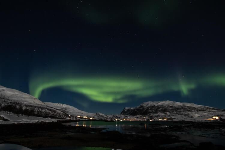 Tromso, Norway with northern lights
