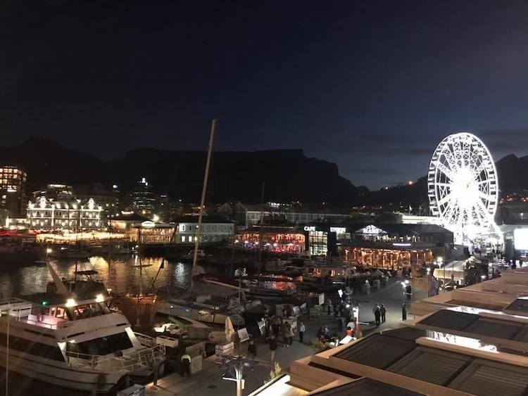 V&A Waterfront at night