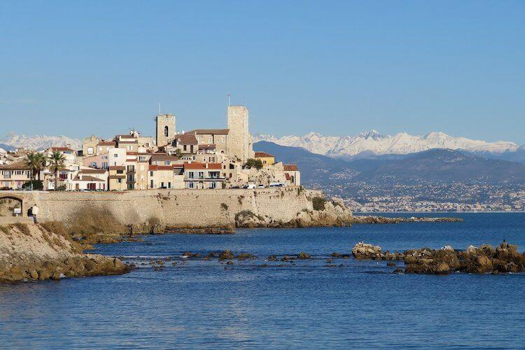 Views of the city and mountains in Antibes- Honeymoon Europe