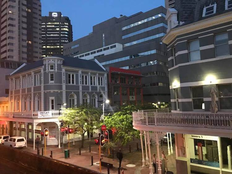 Views of the city bowl area of Cape Town from The Village Idiot- 3 Day Cape Town Itinerary