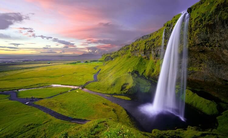 Waterfall in Iceland- Adventure Honeymoons in Europe