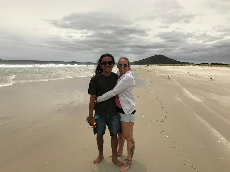 We Are Sumatra- Agung and Carly on the Beach