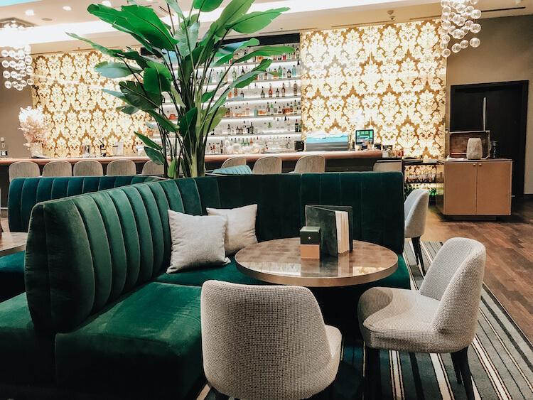 Cafe inside of the Hotel Steigenberger Harrenhoff