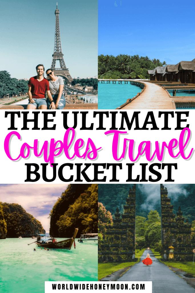 Couples Travel Bucket List