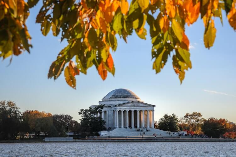 Jefferson Memorial across from the Tidal Basin- Things to do in DC in 3 Days