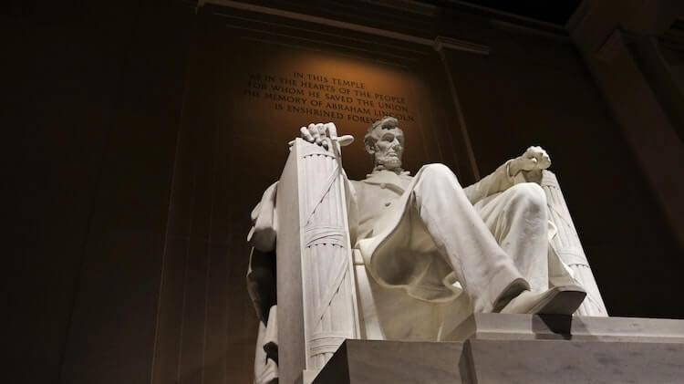 Lincoln Memorial statue in Washington, DC- Things to do in DC in 3 Days
