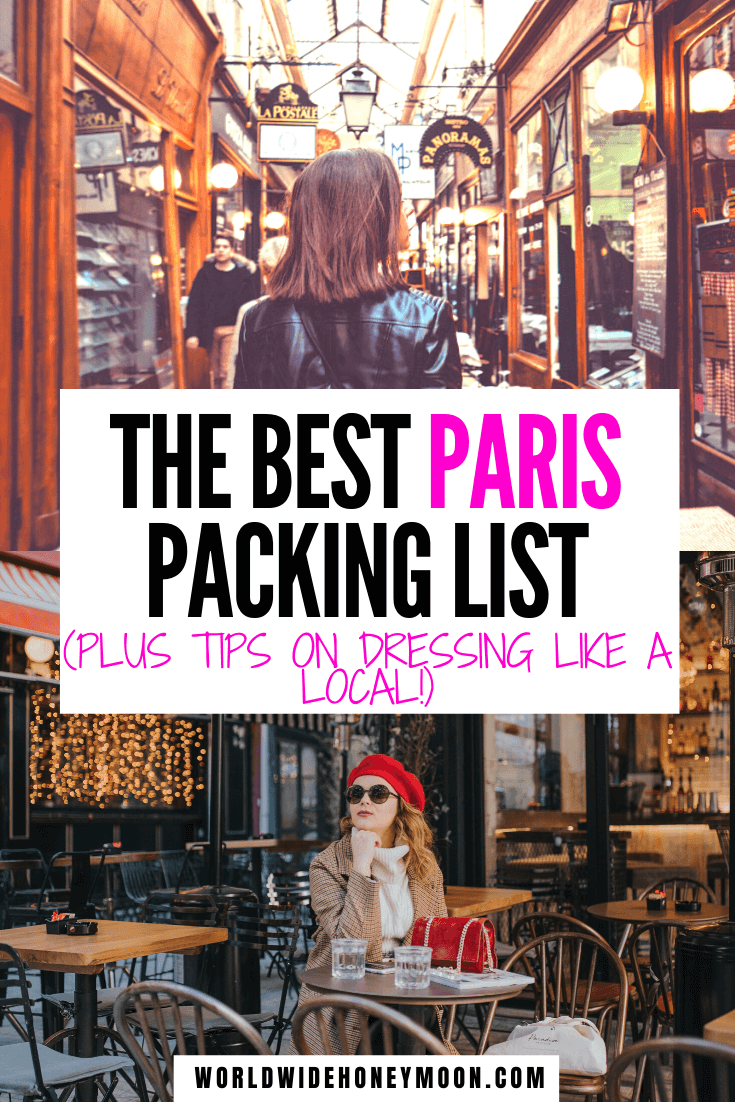 The ultimate guide on what to wear in Paris (plus what NOT to wear)! | Things You Need to Pack for Paris | Clothing options for Paris | What to Bring to Paris | Paris Packing List | Travel Guide to Paris | What to Wear in Paris in Spring | What to Wear in Paris in Summer | What to Wear in Paris in Fall | What to Wear in Paris in Winter | Paris Outfit Ideas | Paris Fashion | Paris Packing List Summer | Packing for Paris #parispackinglist #whattowearinparis #parisfrance #europe