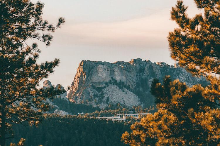 Black Hills, South Dakota with Mt. Rushmore
