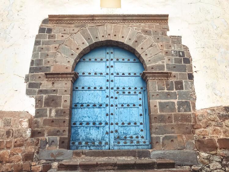 Blue door in Cusco