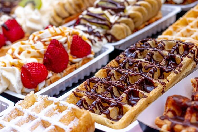 Brussels waffles in Brussels- What to eat in Brussels