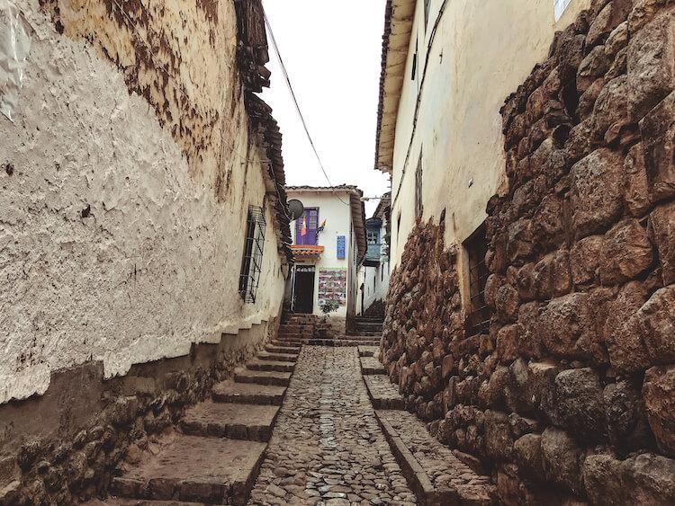Cobblestone streets of Cusco