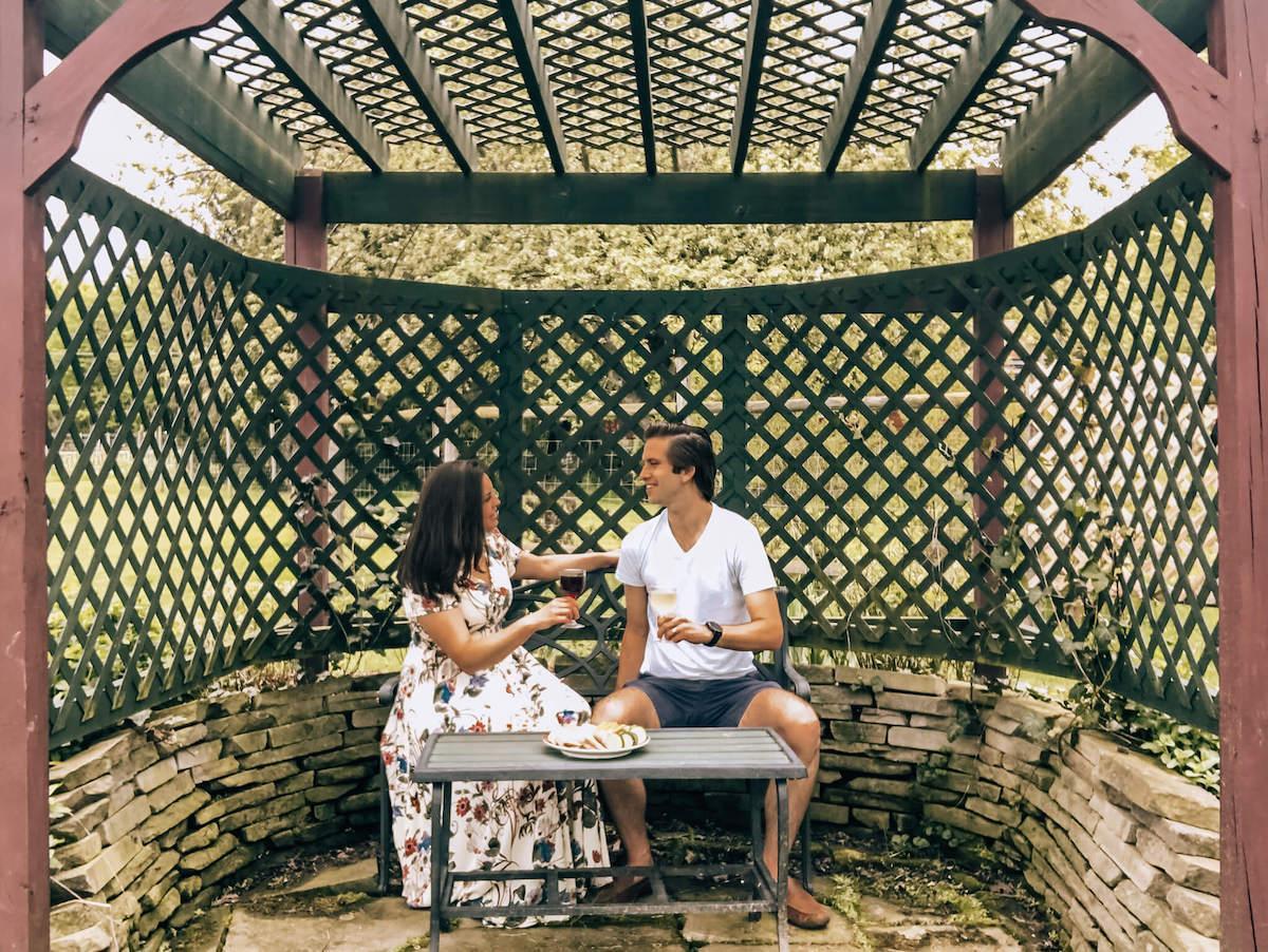 Kat and Chris enjoying a picnic at Harpersfield Winery-2