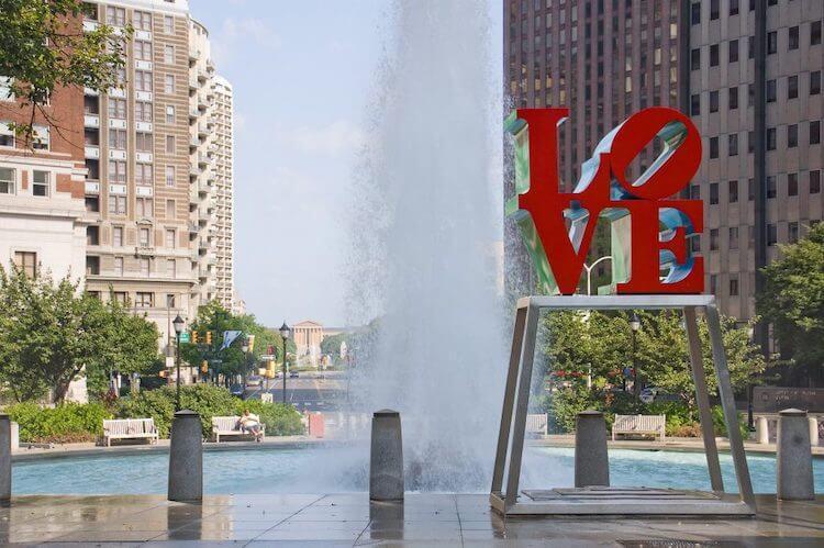 Love Statue, Philadelphia USA
