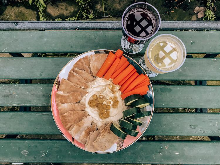 Picnic lunch at Harpersfield Winery - Tips for Visiting Ohio Wineries