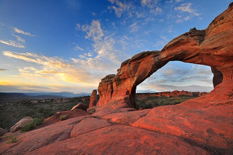 Sunset at Arches National Park- USA Bucket List
