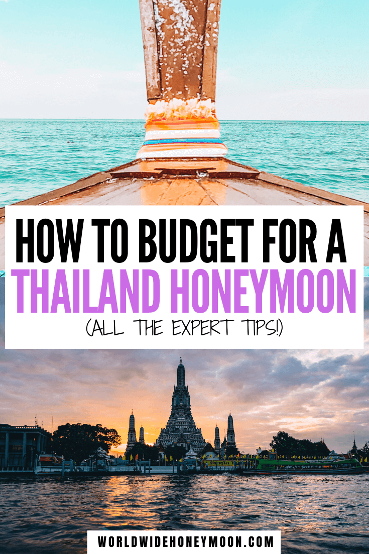 This is the ultimate Thailand Honeymoon Budget | Honeymoon in Thailand Budget | Thailand Budget | Thailand Food Budget | Thailand on a Budget | Budget for Thailand | Couple Travel Budget #couplestravel #thailandhoneymoon #budgettravel #thailand #thailandbudget