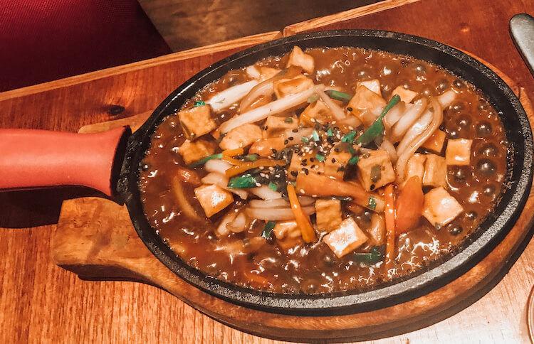 Tofu saltado at Kion