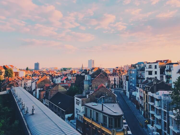 Views of Brussels at sunset- Brussels in one day