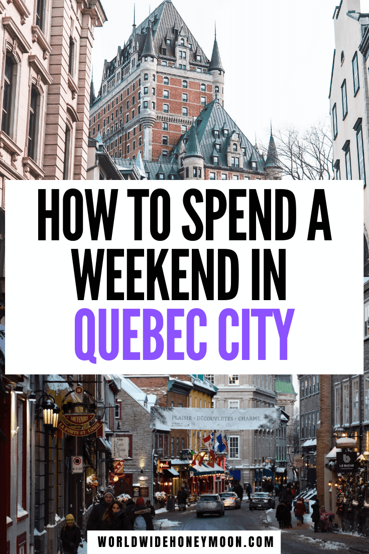 This is the ultimate Quebec City 2 day itinerary | Quebec City Canada | 2 Days in Quebec City | 2 Day Itinerary Quebec City | What to do in Quebec City in 2 Days | Quebec City Things to do | Quebec City 2 Days | Weekend in Quebec City | Quebec Weekend Trip | Quebec City Weekend | Girls Weekend Quebec City | Canada Travel | Quebec Canada | Visit Canada | Visit Quebec City #visitcanada #quebeccity #quebeccanada #quebeccitycanada #2daysinquebec