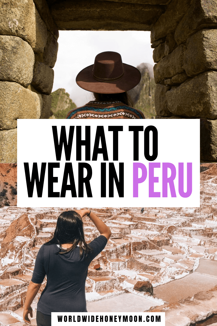 The ultimate Peru packing list including cities, trekking, and the Amazon Rainforest in just a carry on | Peru Packing List Women | Peru Packing List June | Peru Packing List Clothes | What to Pack for Peru | Peru Outfits | What to Wear in Peru | Packing Checklist for Peru #perupackinglist #peruoutfits #perutravel #peru