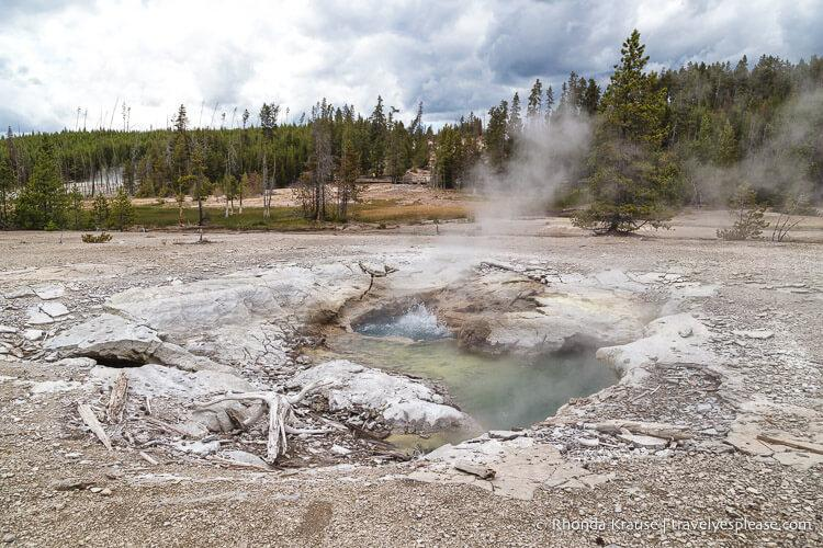 Yellowstone National Park geyser- USA Bucket List for Travel