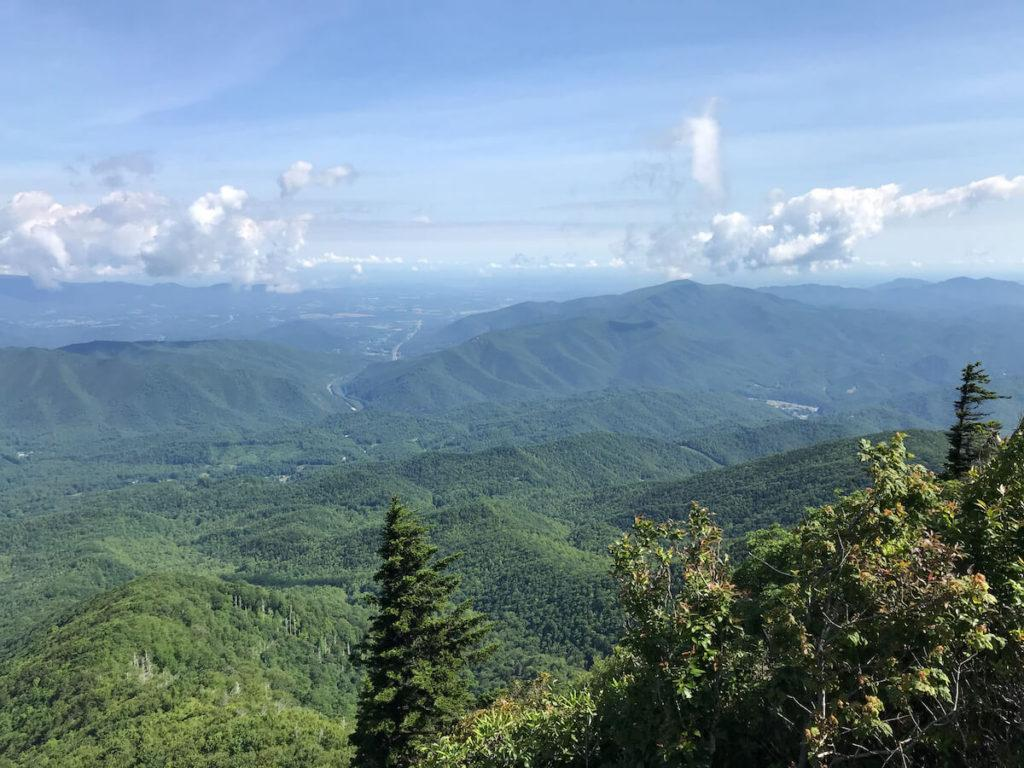 3 Day Great Smoky Mountains Itinerary - Views from Mount Cammerer