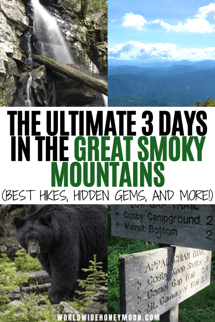 3 day Smoky Mountain itinerary | Great Smoky Mountains Tennessee | Great Smoky Mountains Vacation | Great Smoky Mountains Hiking | Great Smoky Mountains Tennessee Things to do | 3 Days in the Smoky Mountains | Gatlinburg Tennessee Things to do | Gatlinburg Tennessee Cabins | Pigeon Forge Tennessee Things to do in | Tennessee Guide | Great Smoky Mountains National Park Hiking #tn #tennessee #smokymountains #greatsmokymountainsnationalpark #gatlinburg #pigeonforge
