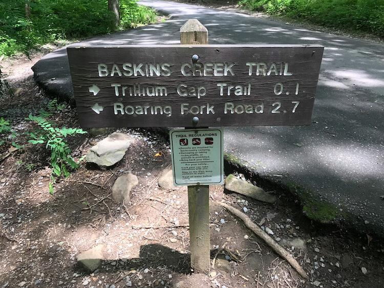 Baskin Creek Trail sign