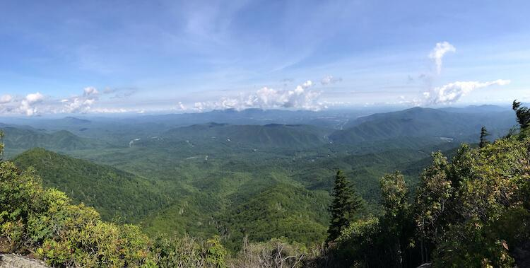 Panoramic Views on top of Mount Cammerer
