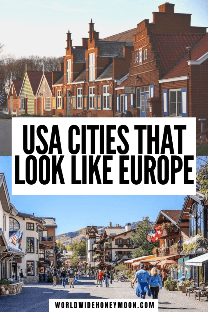 These are the most European cities in the US | European Cities in the USA | US Cities That Look Like Europe | European Cities in North America | Prettiest Cities in the US | Prettiest US Cities | Most European Cities in America | Cities in the US to Visit | US Cities to Visit | USA vs Europe #europeancitiesintheus #prettiestuscities #citiesintheus #usatravel
