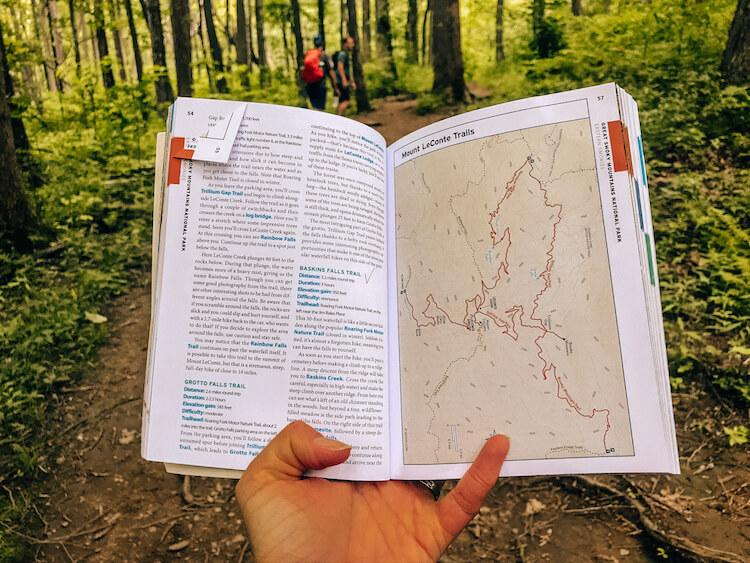 Using Moon Travel Guide to get to Baskin Creek Falls