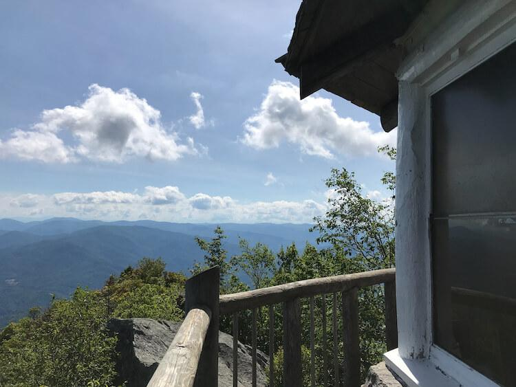 Views from the Mount Cammerer Lookout Tower