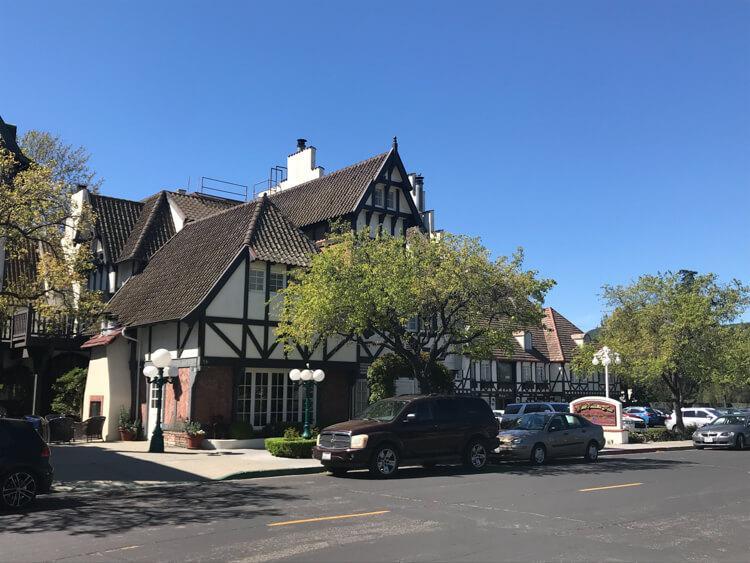 Beautiful town of Solvang, California