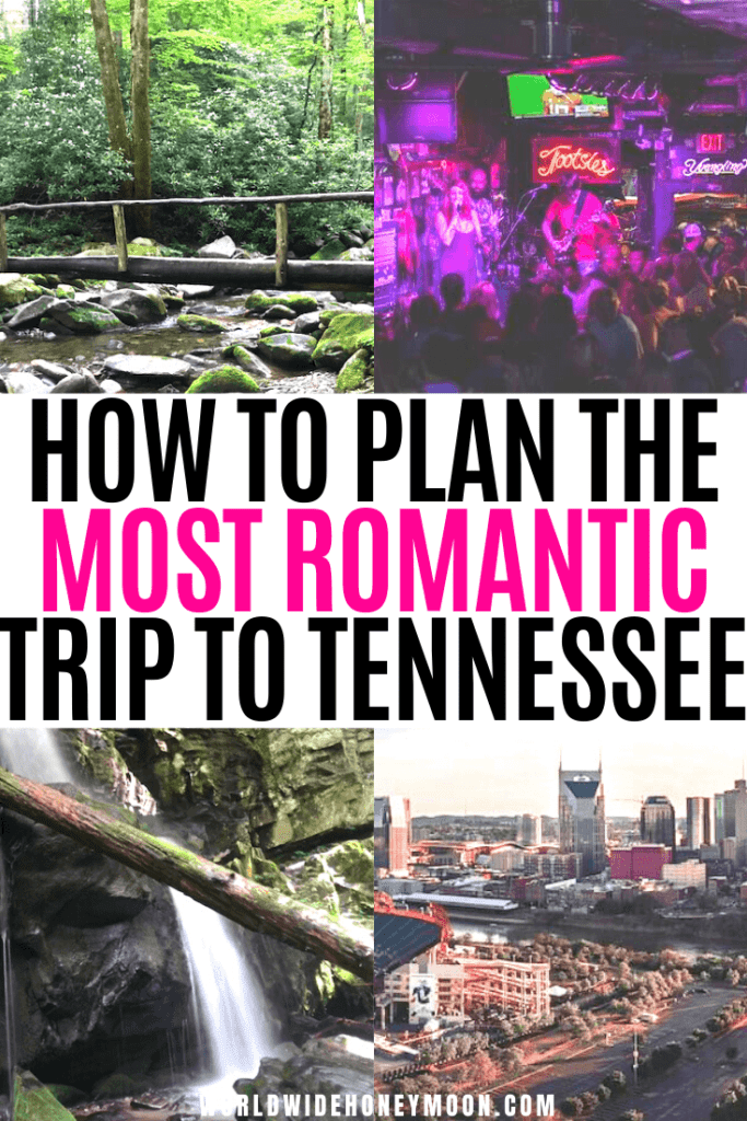 This is the ultimate guide on planning a honeymoon in Tennessee | Honeymoon in Tennessee Cabin Rentals | Honeymoon in Tennessee Pigeon Forge | Gatlinburg Tennessee Honeymoon | Nashville Tennessee Honeymoon | Pigeon Forge Tennessee Honeymoon | Knoxville Tennessee Honeymoon | Memphis Tennessee Honeymoon | Tennessee Vacation | Memphis Honeymoon | Romantic Getaway Tennessee #tennesseehoneymoon #nashvilletennesseehoneymoon #memphistenneseehoneymoon #gatlinburghoneymoon