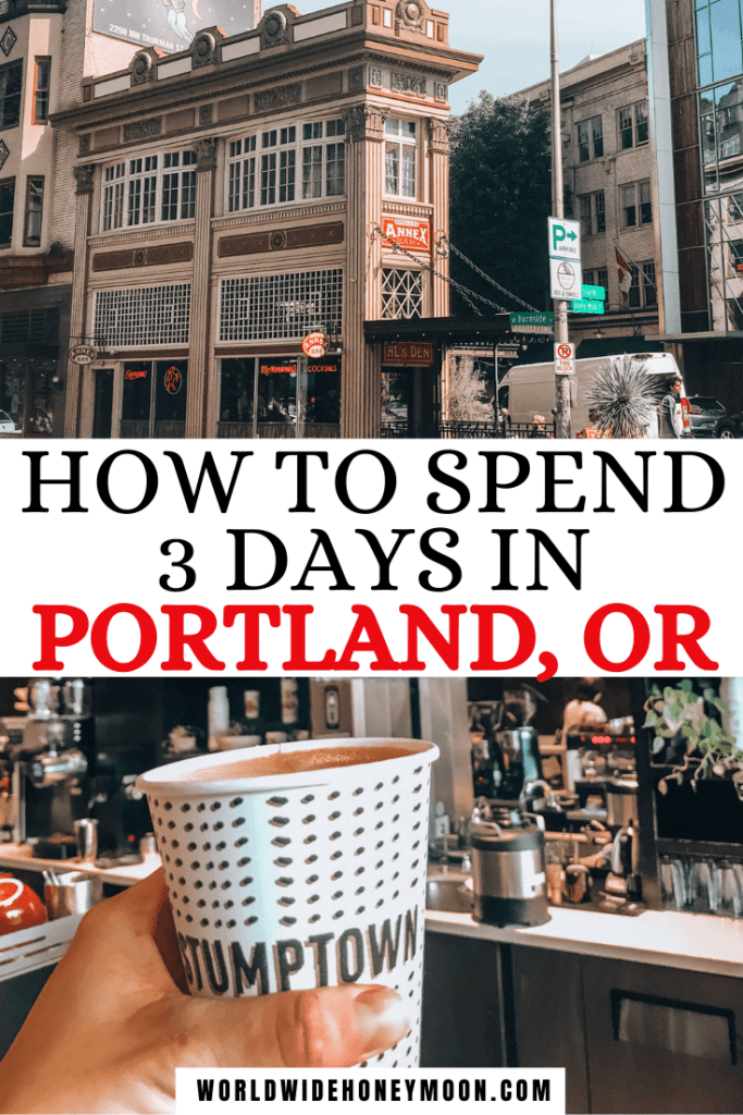 How to Spend 3 Days in Portland, OR | Top photo is the Annex Bar and the bottom photo is a to-go coffee from Stumptown