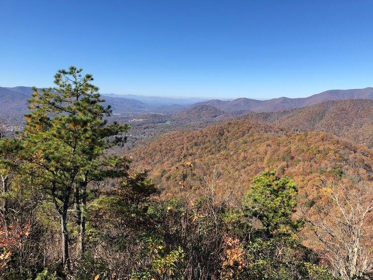 Asheville Hiking in the fall - Best Fall Vacations in the US