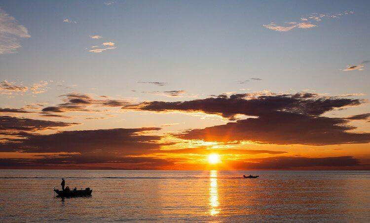 Door County at Sunset in the Autumn - Best October Places to Visit