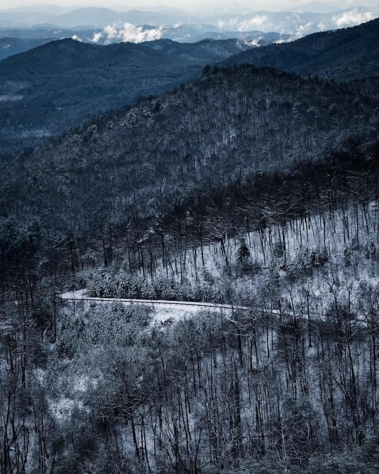 Foothills Parkway, Sevierville, TN in the Great Smoky Mountains