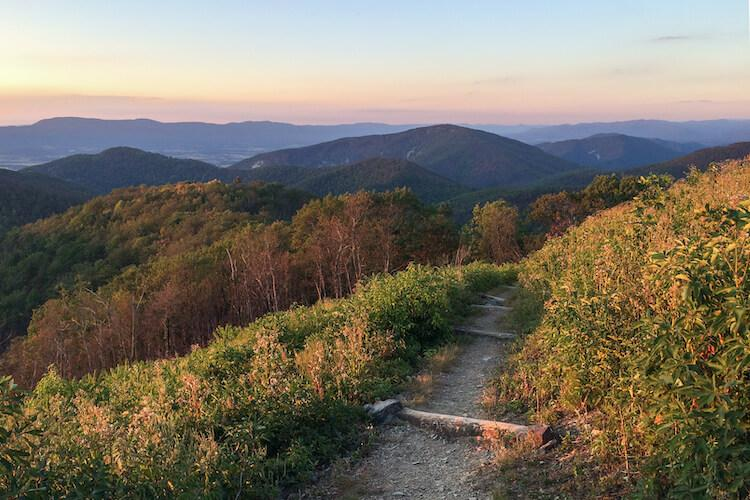 Hiking Shenandoah National Park in the fall