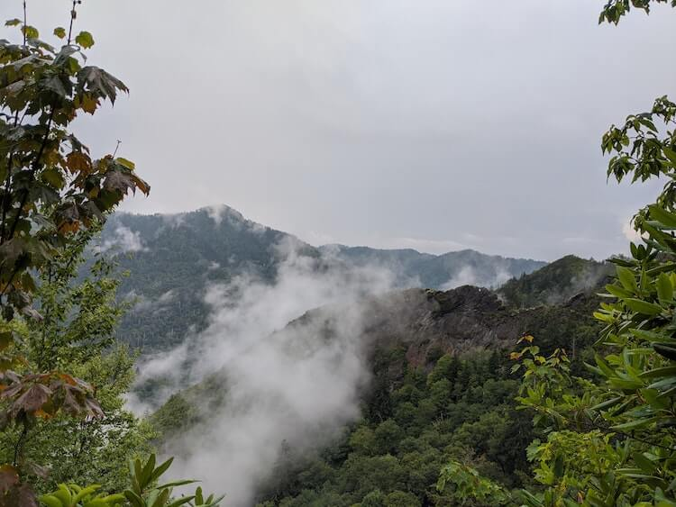 Misty mountains in the early fall in the Smokies - Smoky Mountains Best Time to Visit